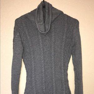 Knitted Winter turtleneck dress
